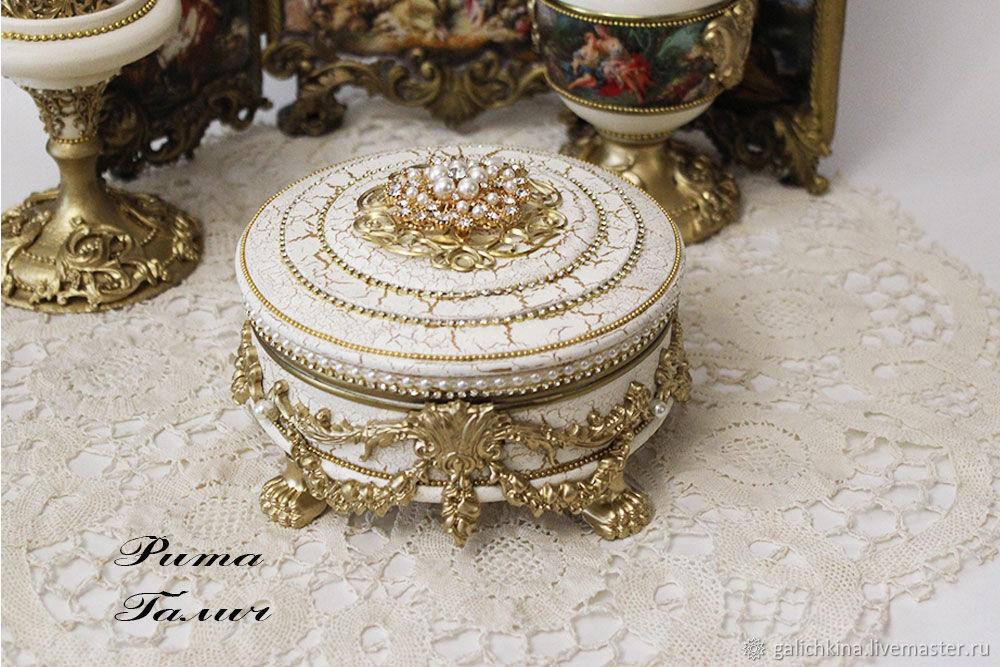 Boxes:Box bombonier with pearls, Box, Volgograd,  Фото №1