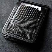 Сумки и аксессуары handmade. Livemaster - original item Money clip made of genuine black monitor lizard leather. Handmade.