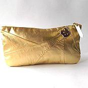 handmade. Livemaster - original item Evening gold clutch bag, Golden Apple, Golden clutch bag. Handmade.
