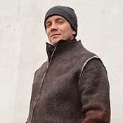 Одежда handmade. Livemaster - original item Men`s felted jacket. Handmade.