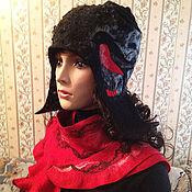"""Аксессуары ручной работы. Ярмарка Мастеров - ручная работа валяный комплект """"Снегири прилетели"""". Handmade."""