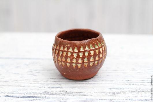 Кружки и чашки ручной работы. Ярмарка Мастеров - ручная работа. Купить Небольшая чашечка. Handmade. Купить глиняную рюмку