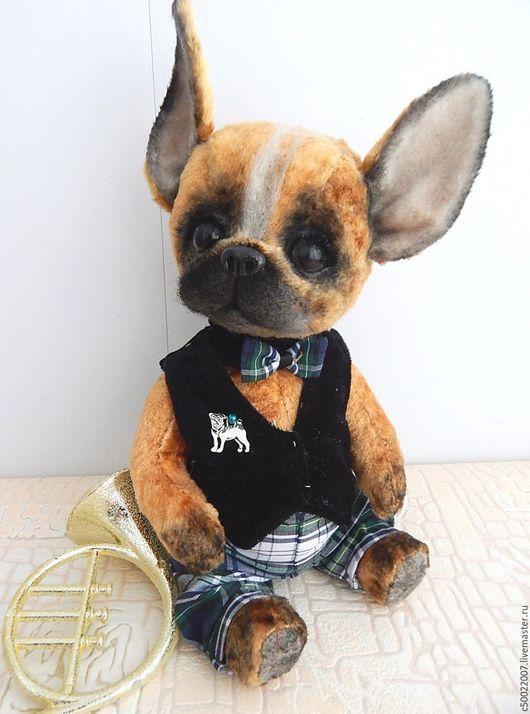 Мишки Тедди ручной работы. Ярмарка Мастеров - ручная работа. Купить Бруно. Handmade. Рыжий, щенок, плюш винтажный