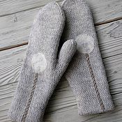 Аксессуары handmade. Livemaster - original item Mittens, knitting, double, dandelion. Handmade.