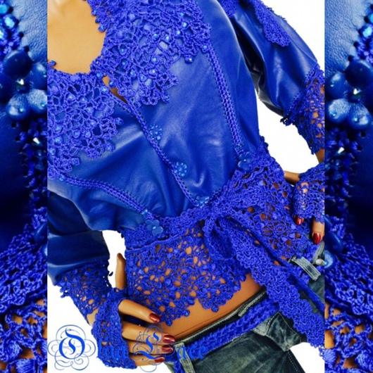 Верхняя одежда ручной работы. Ярмарка Мастеров - ручная работа. Купить Кожаная куртка. Handmade. Синий, Ольга Лэйс, фурнитура