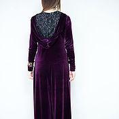 Одежда handmade. Livemaster - original item Velvet evening jumpsuit with chic back - JP0360VE. Handmade.