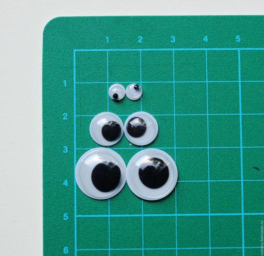 Куклы и игрушки ручной работы. Ярмарка Мастеров - ручная работа. Купить Глазки клеевые бегающие 5, 10, 15 мм. Handmade.