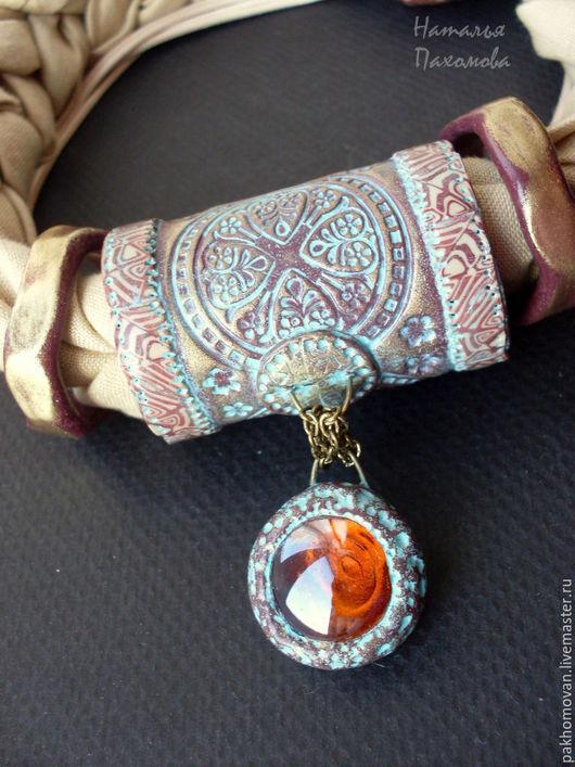 Этно колье из полимерной глины Баян Сулу.