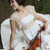 Одежда ручной работы. Ярмарка Мастеров - ручная работа Болеро и пояс свадебные. Handmade.