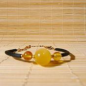 Украшения handmade. Livemaster - original item Amber bracelet on a string Br-223. Handmade.