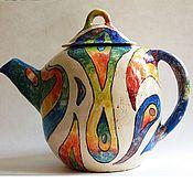 Посуда ручной работы. Ярмарка Мастеров - ручная работа Чайник глиняный лепной 6. Handmade.