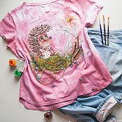 Одежда handmade. Livemaster - original item Hedgehog t-shirt. Handmade.