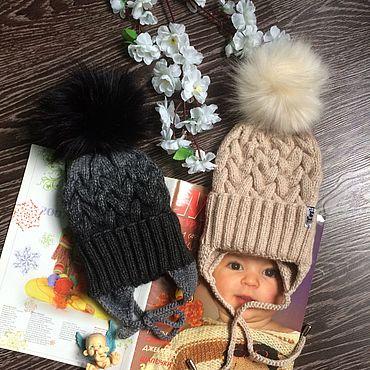 Одежда ручной работы. Ярмарка Мастеров - ручная работа Детская Шапка из пуха норки и козочки. Handmade.