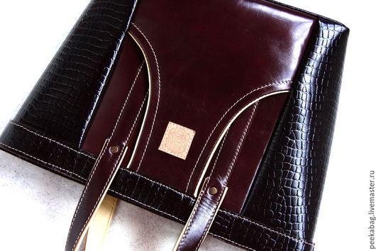 Женская кожаная сумка. Большая кожаная сумка женская