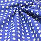 Американский хлопок горох синий оксфорд для пэчворка Ткани на Цветном