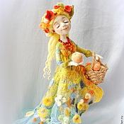 """Куклы и игрушки ручной работы. Ярмарка Мастеров - ручная работа Авторская кукла из шерсти """"Яблочное лето"""". Handmade."""