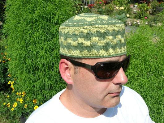 """Для мужчин, ручной работы. Ярмарка Мастеров - ручная работа. Купить Шапка  """"Султан-1"""". Handmade. Комбинированный, шапка на осень"""