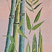 """Картины и панно ручной работы. Ярмарка Мастеров - ручная работа Вышитая картина """" Бамбук"""". Handmade."""