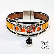 Украшения handmade. Livemaster - original item Designer leather bracelet Art:18000001. Handmade.