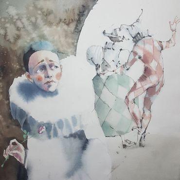 Картины и панно ручной работы. Ярмарка Мастеров - ручная работа Сердце Пьеро. Handmade.