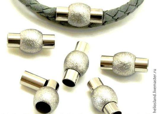 Для украшений ручной работы. Ярмарка Мастеров - ручная работа. Купить Магнитный замок для  круглых шнуров  4мм, 5 мм. Handmade.