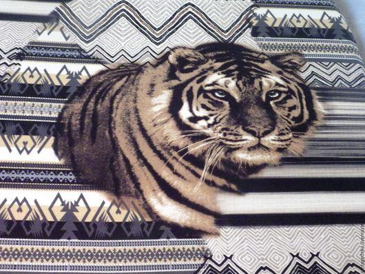 Шитье ручной работы. Ярмарка Мастеров - ручная работа. Купить Тигры купонный трикотаж. Handmade. Комбинированный, анималистика