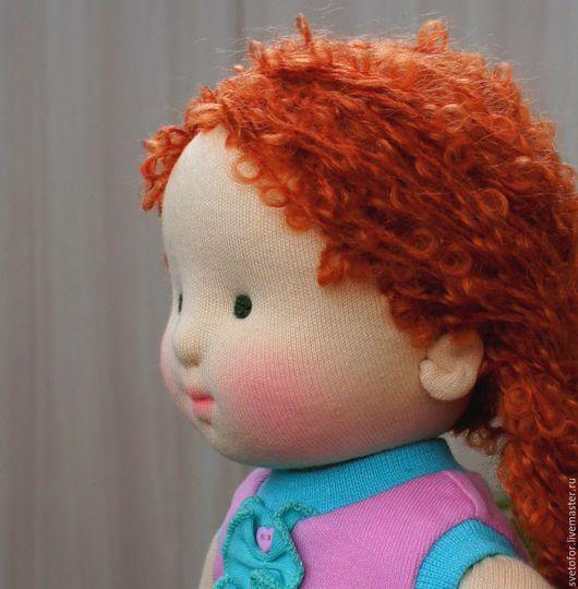 Вальдорфская игрушка ручной работы. Ярмарка Мастеров - ручная работа. Купить Пироженка, 37 см. Handmade. Розовый, игрушка в подарок