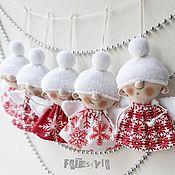 Мягкие игрушки ручной работы. Ярмарка Мастеров - ручная работа Ангелы рождественские Куклы маленькие Игрушки на елку. Handmade.