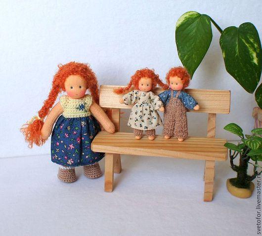 Вальдорфская игрушка ручной работы. Ярмарка Мастеров - ручная работа. Купить Малыши Рыжики, 12.5 см и 6.5 см. Handmade.