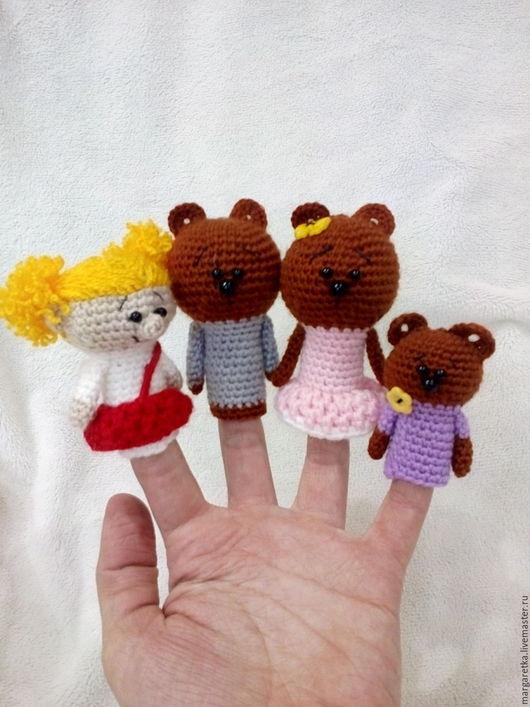 Кукольный театр ручной работы. Ярмарка Мастеров - ручная работа. Купить Пальчиковый театр Три медведя. Handmade. Сказка