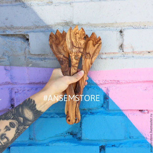 Кухня ручной работы. Ярмарка Мастеров - ручная работа. Купить Ложка лопатка ОЛИВ из оливкого дерева. Деревянная лопатка. Handmade.