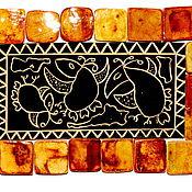 """Посуда ручной работы. Ярмарка Мастеров - ручная работа Керамическая плитка """"Полетаем"""". Handmade."""