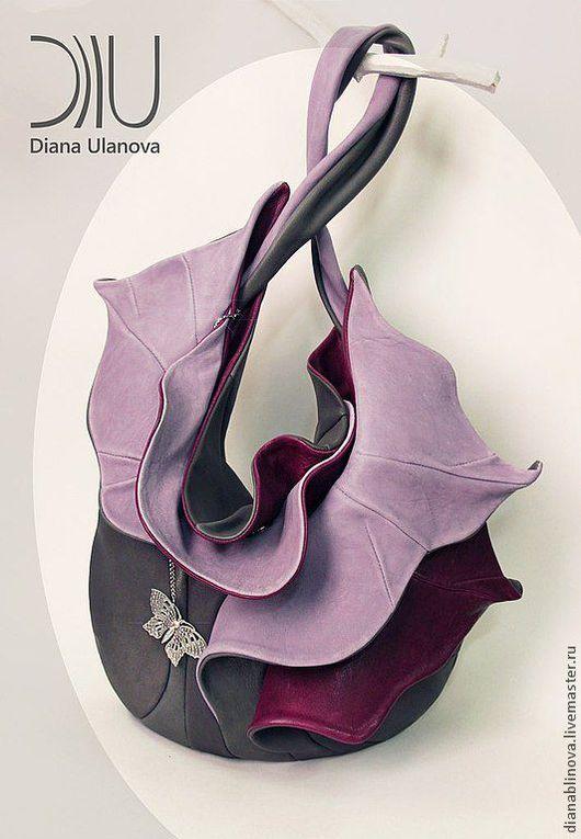 """Женские сумки ручной работы. Ярмарка Мастеров - ручная работа. Купить сумка кожаная """"Орхидея"""". Handmade. Комбинированный, кожа натуральная"""