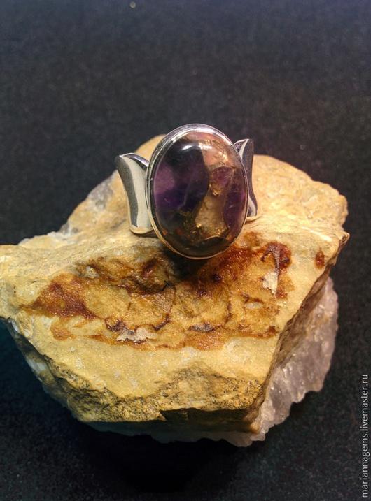Кольца ручной работы. Ярмарка Мастеров - ручная работа. Купить Кольцо с бронзит. Handmade. Разноцветный, натуральный камень
