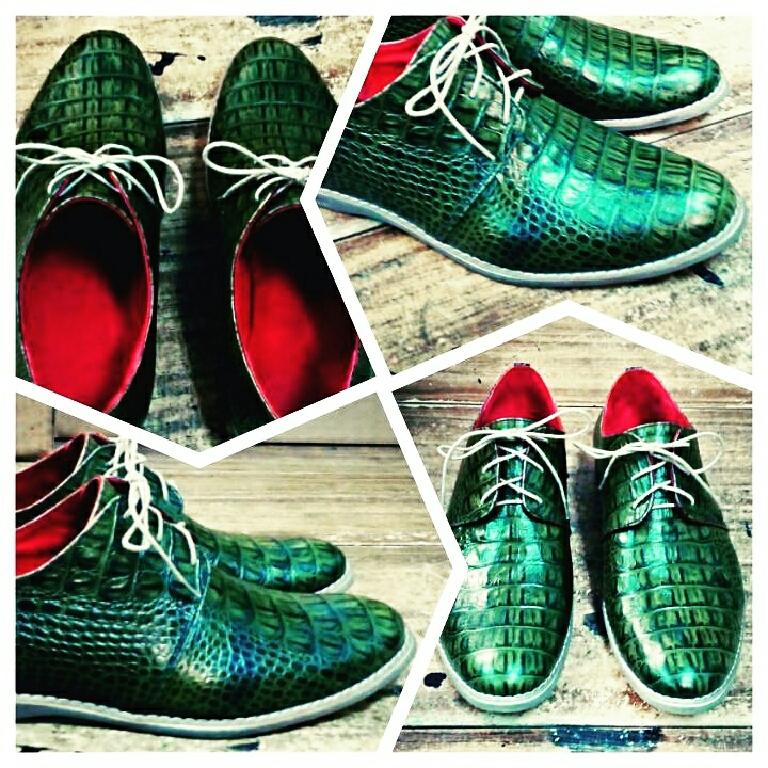 Обувь ручной работы. Ярмарка Мастеров - ручная работа. Купить Туфли мужские. Handmade. Зеленый, ручная авторская работа