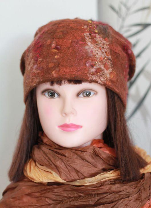 """Шапки ручной работы. Ярмарка Мастеров - ручная работа. Купить Шапка валяная """"Брауни"""". Handmade. Шапка шапка шапка шапка"""