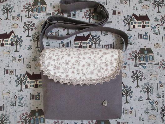 Женские сумки ручной работы. Ярмарка Мастеров - ручная работа. Купить Маленькая сумочка через плечо. Handmade. Серый