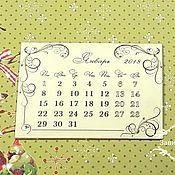 Материалы для творчества ручной работы. Ярмарка Мастеров - ручная работа Отрывной календарь (блок) 2018 год. Handmade.