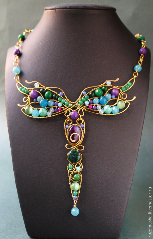 Summer Beauty pendant (variant with purple stones), Necklace, St. Petersburg,  Фото №1