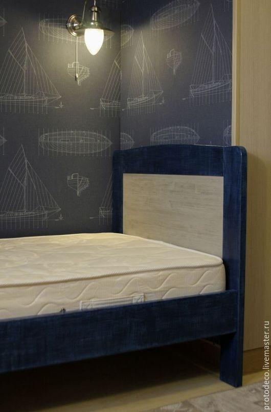 """Мебель ручной работы. Ярмарка Мастеров - ручная работа. Купить Кровать для подростка """"Джинс"""". Handmade. Кровать, кровать из массива"""