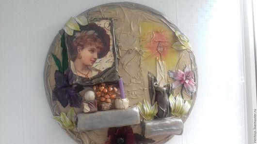 """Фантазийные сюжеты ручной работы. Ярмарка Мастеров - ручная работа. Купить Панно """"Магия женщины"""". Handmade. Комбинированный, панно на стену"""