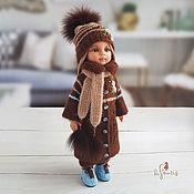 Куклы и игрушки handmade. Livemaster - original item Clothes for Paola Reina dolls. Chocolate-blue set.. Handmade.