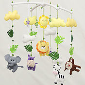 Работы для детей, handmade. Livemaster - original item Newborn gift: Mobile from felt