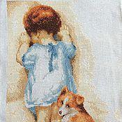 Картины и панно ручной работы. Ярмарка Мастеров - ручная работа картина Верные друзья! вышивка. Handmade.