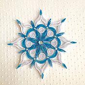 Для дома и интерьера ручной работы. Ярмарка Мастеров - ручная работа Снежинка в технике квиллинг. Handmade.