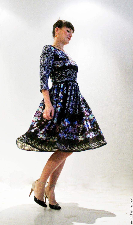 Платье в русском стиле из шерсти Этро, Платья, Москва, Фото №1