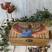 Для дома и интерьера handmade. Livemaster - original item The Box of the Mystery of Maat. box decoupage. Handmade.