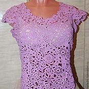 Блузки ручной работы. Ярмарка Мастеров - ручная работа блуза НЕЖНОСТЬ (большие размеры). Handmade.