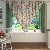 Для дома и интерьера handmade. Livemaster - original item Ready made curtains in the kitchen. Handmade.