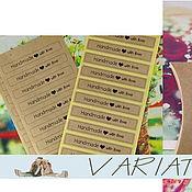 Материалы для творчества ручной работы. Ярмарка Мастеров - ручная работа Наклейки handmade 12 шт.. Handmade.